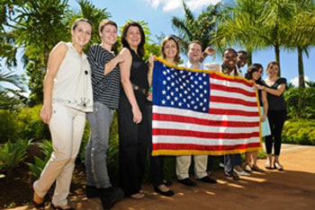 Representantes brasileiros do Programa em 2012 / Foto:AgênciaMinas
