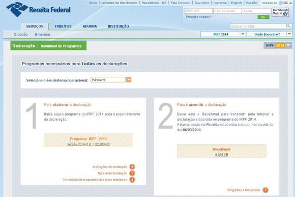 Programa disponibilizado pela Receita Federal / Foto: Divulgação