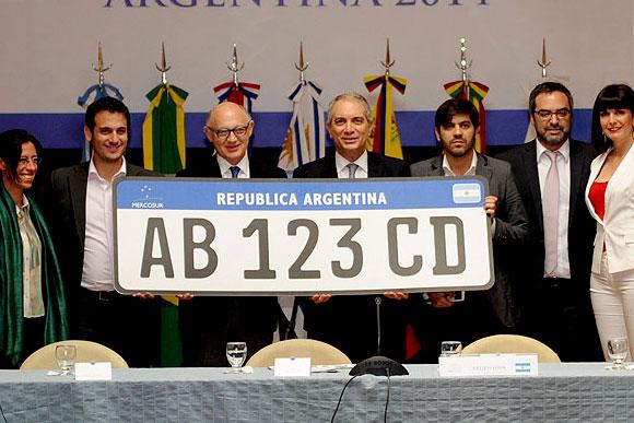 Modelo de placa que será usado no Mercosul / Foto: Divulgação