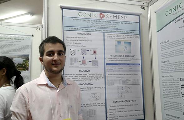 Luiz Lanza, do curso de sistemas de informação/ Foto: arquivo pessoal